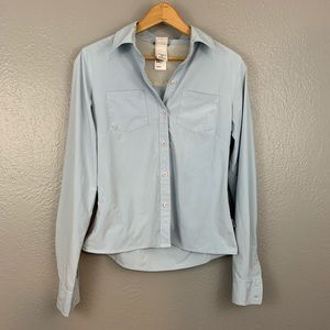 The North Face Blue Button Down Hiking Shirt